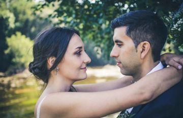 Recien casados en la casa rural Rio Ladra