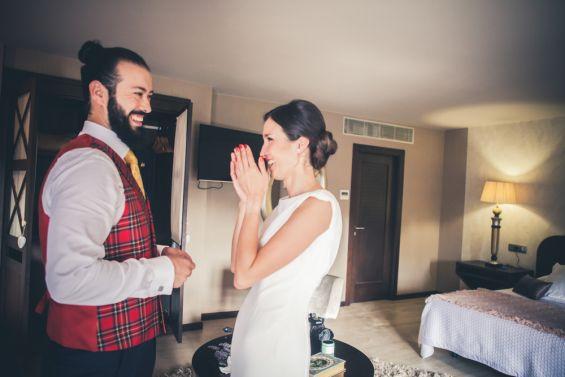 risas antes de la boda